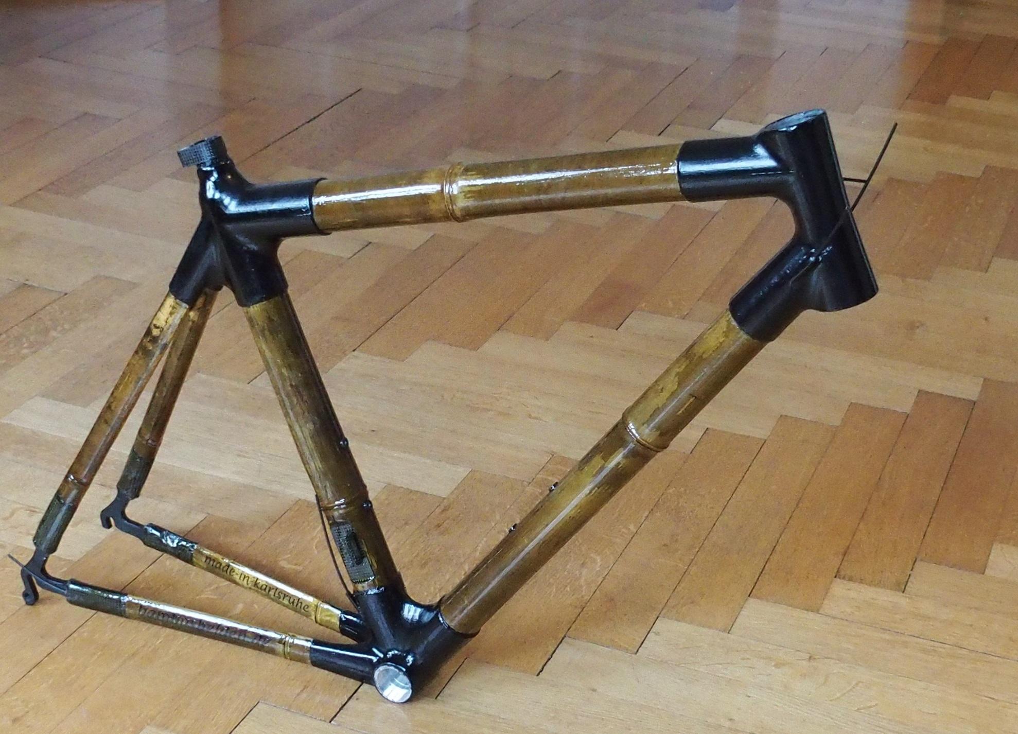 Bambusrahmen in Rennrad Geometrie. – Bambusfahrräder Stefan Eisen ...